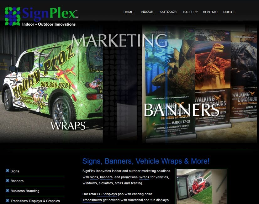 Web designer XtraMark created branding and content management website for www.Signplex.biz