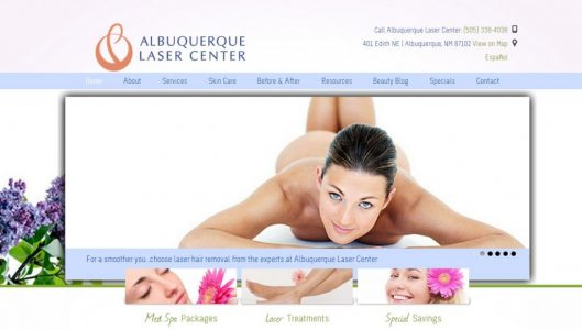 Albuquerque Laser Center Website