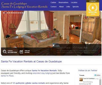 Casas de Guadalupe Website
