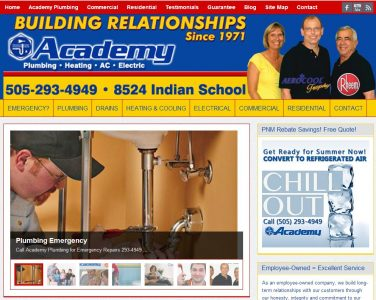 Academy Plumbing Website