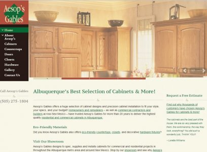 Aesop's Gables Website
