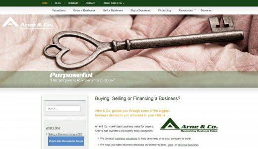 Arne & Co. Website